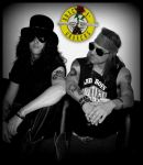 AXL ROSE and SLASH temporary tattoos by BamaGent
