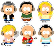 Chris Moyles South Park by MooseCake