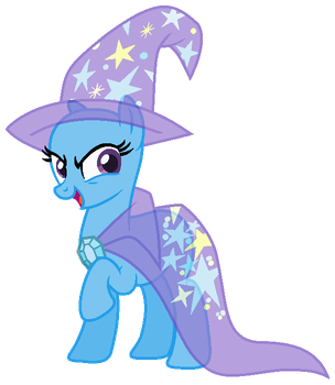 MLP Trixie Base 01 | With cape and hat by CookieChanS2
