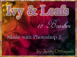 Ivy and Leafs (12 Brushes) by JennyDittmann