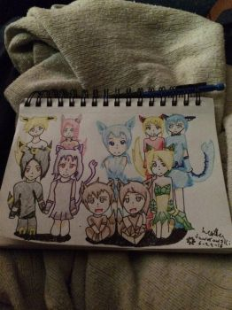 All the Evee evolution human form  by roxasheartaxel