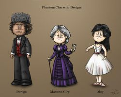 Phantom Character Designs Part 2 by DarthxErik