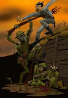 ww1 zombie color by mastaczajnik