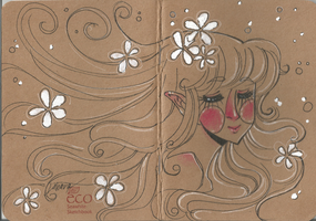 Notebook - Elven girl by Lahara