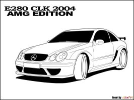 CLK 2004 lineart by 6sixty6