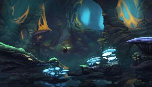 Underworld sidescroller concept art by Domen-Art