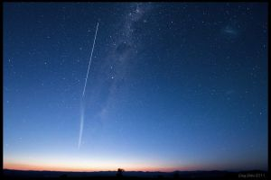Comet Lovejoy and the ISS by CapturingTheNight