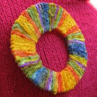 Ring of Sunshine Brooch by SandFibers