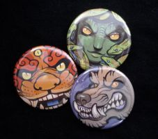 Mythology-folklore button set by missmonster