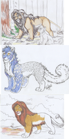 WIPs and sketches by Adammanti