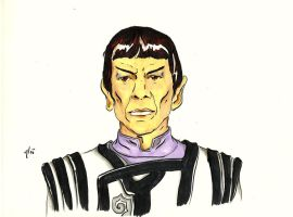 Spock [Brush Pen and Markers] by AloiInTheSky
