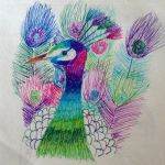 Colourful Peacock by She-Elf176