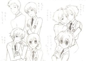 The Ouran Host Club Members by rin-chan026