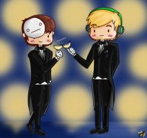 Stay Classy - Pewdie and Cry by pyohappy