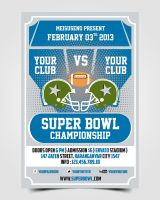 Super Bowl Flyer by pascreative
