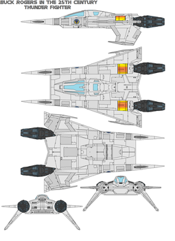 buck rogers  Thunder Fighter by bagera3005