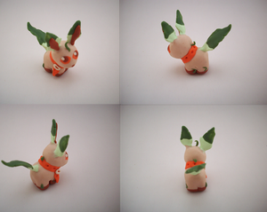 Chibi Leafeon Sculpture by CharredPinappleTart