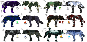 Wolf adoption 4 - 5 LEFT by CelesticAdopts