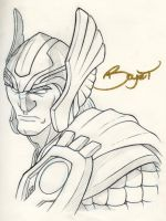 Warm-up Sketch - Thor by exablitz