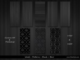 Wood + Pattern + Black + Blur by vStyler