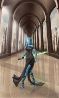 Jedi Twi'lek - For Kristine by Steve2032