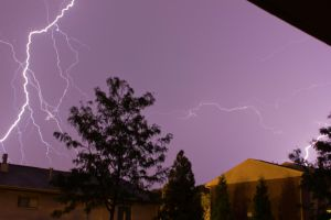 1st attempt at photographing lightning by DarkPhoenix36