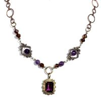 purple steampunk Necklace by CatherinetteRings