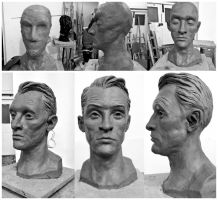 Male Bust Clay Sculpt by Meletis