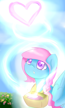 Art Trade with FloodedHeart by FeatherWishMLP