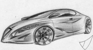 A vigorous concept car from 2013 by ValodyAndrew