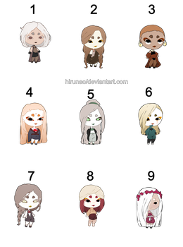 CLOSED  #3  Mystery HUMANS Adopts thank you guys by HiruNao