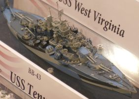 USS West Virginia BB-48 Model by rlkitterman
