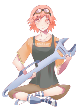 Commission: Haruko (without background) by BleuSamaXxDxX