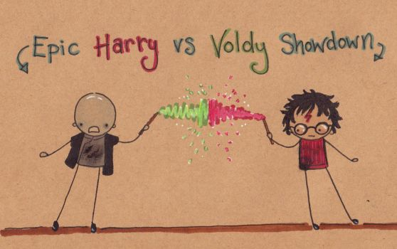 Harry vs Voldy Epic Showdown by Pinkie-Perfect