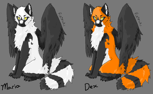 Maria and Dex ref sheet by NightShrowd7-17