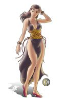 Chun Li - Hair Down by shrouded-artist