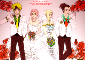 We're Married Now: NaruSaku ShikaIno Style by PinkishOrange