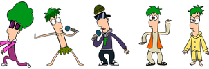 The Many Looks of Ferb by LoneWolf98