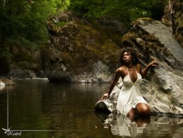 White dress in river by Kestrel01