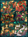 6 FREE adoptables 2015 CLOSED by Roxalew