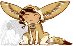 Chibi in Fennec Suit by kuroitenshi13