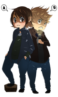 Supernatural goes chibi - Commission by Lesevex