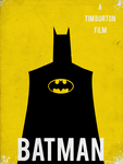 Minimalist Batman by rcrosby93