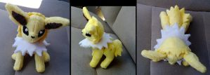 mini jointed jolteon plush by LRK-Creations