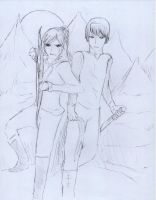 Katniss and Gale by ZacharyWolf