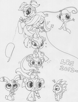 Littlest Pet Shop 2012 - The Characters in a Line by SapphireMiuJewel