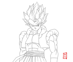 Gogeta Appears Lineart by SnaKou