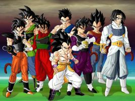 All My Saiyan The 8Team vers.2 by Teoma-The-Naraotor