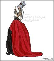 Fashion Design: Elegant Goth by CasualVillain
