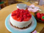 Strawberry Japanese cheesecake miniature by LittlestSweetShop